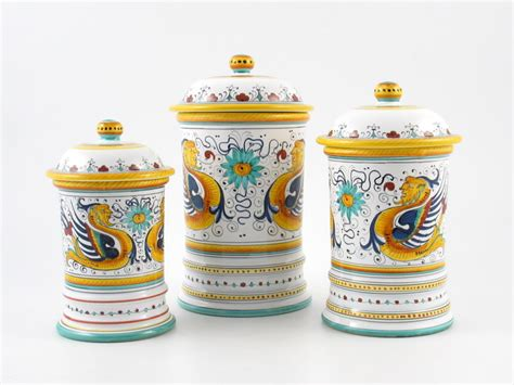 Kitchen Canisters Set Of 4 italian kitchenware
