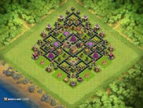 Top clash of clans th8 defense base layouts