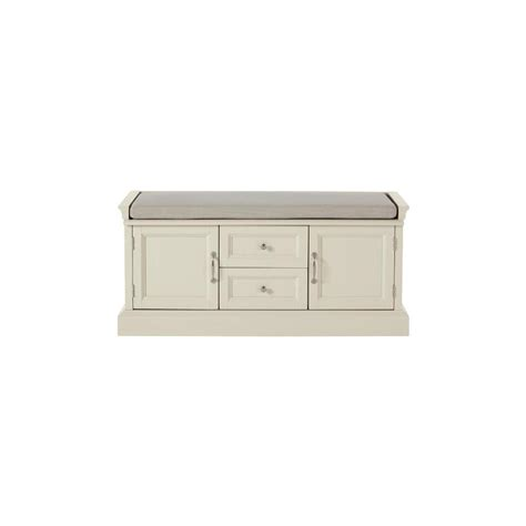 home decorators storage bench home decorators collection royce storage polar white bench 9856600410 the home depot