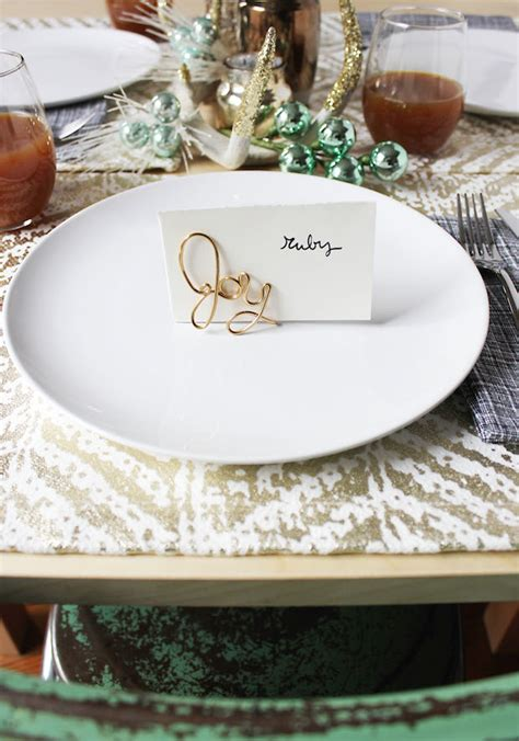 make place card holders how to easy wire place card holders make