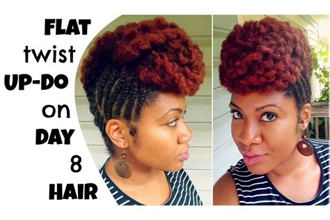 michy hair flat twist updo protective style naturally michy youtube