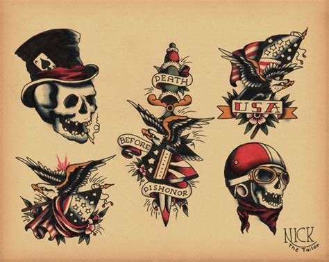 old skull wear a hat tatto sketch design tattoomagz