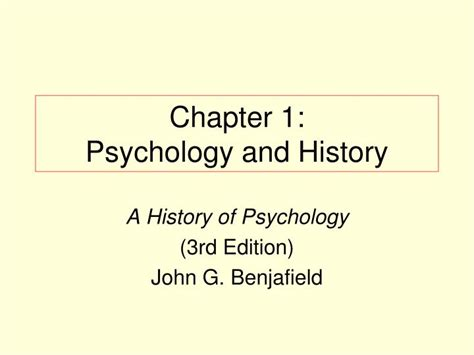 Psychology And History ppt chapter 1 psychology and history powerpoint