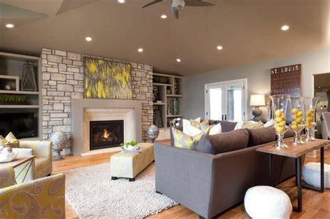 Yellow Gray And Brown Living Room by Yellow Brown And Grey Livingroom Yellow Yellow Brown And Grey