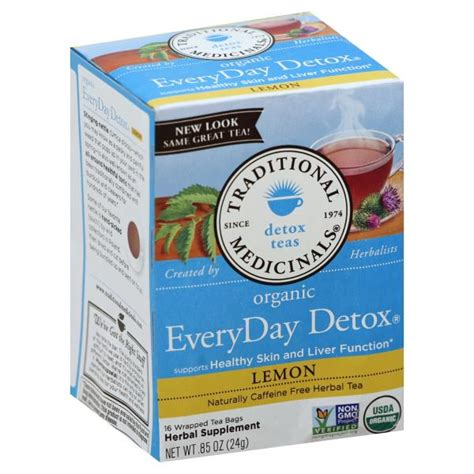 Traditional Medicinals Detox Tea Lemon by Traditional Medicinals Herbal Tea Organic Everyday Detox