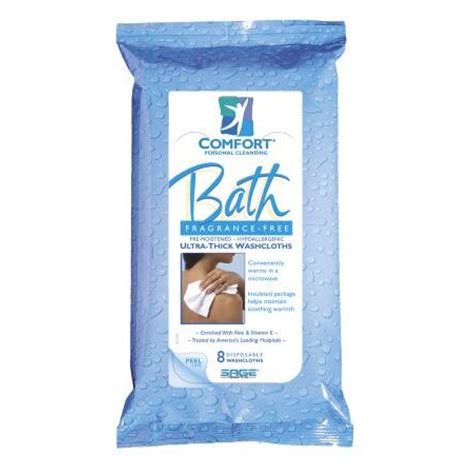 comfort bath fragrance free comfort bath cleansing washcloths 8 x 8