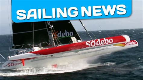 trimaran in heavy weather heavy weather for sodebo and his skipper thomas coville