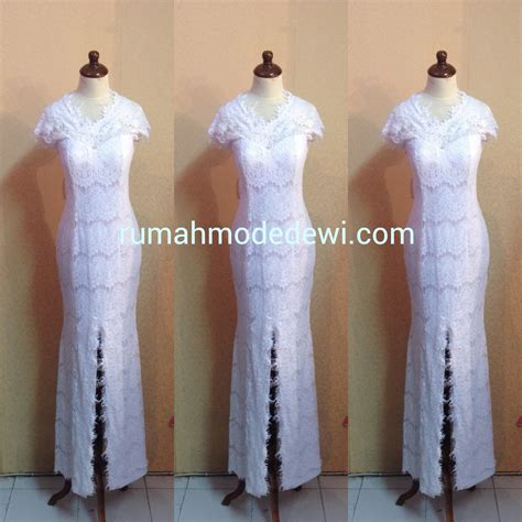 Dress Kerah Renda dress putih bahan renda