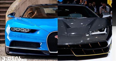 Lamborghini Vs Bugatti 2017 Lamborghini Centenario Vs 2017 Bugatti Chiron Versi
