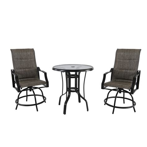 Steel Bistro Chairs Hton Bay Statesville 3 Steel Outdoor Bistro Set Fcs70357bhsst 1 The Home Depot