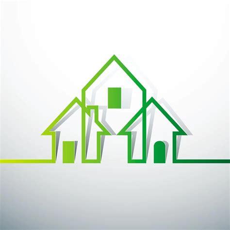 house logo design vector green concept logo vectors