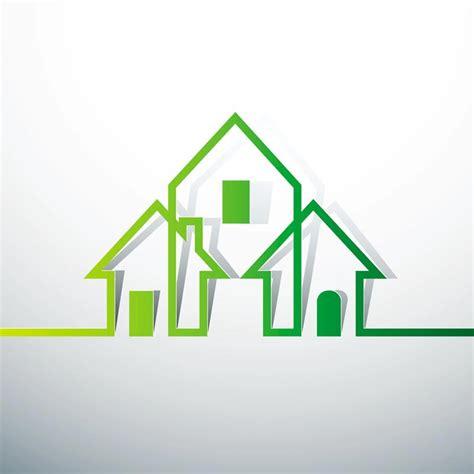 house logo design vector green concept logo vectors