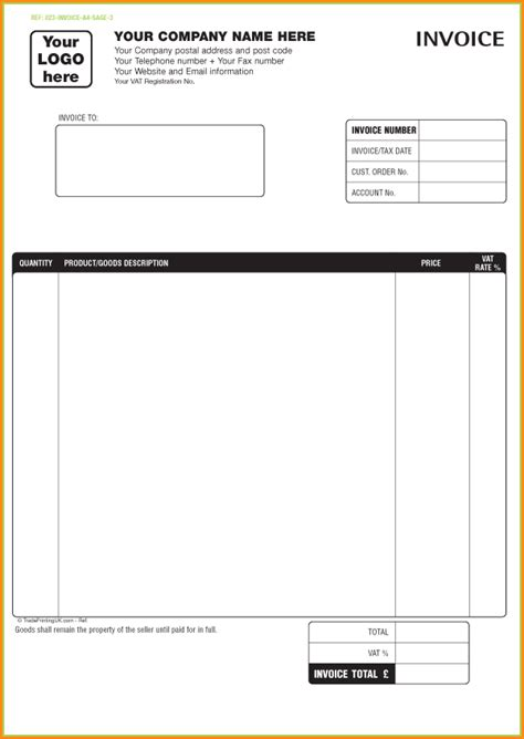 invoice template printable 5 invoice template free invoice template