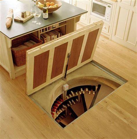 Wine Cellar Spiral Staircase Trapdoor In The Kitchen Floor Spiral Wine Cellars