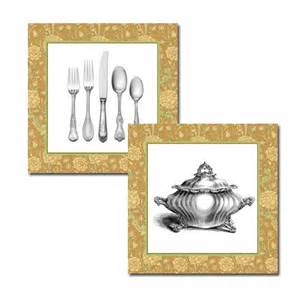 two dining room art prints 8 x 8 vintage by delightfultrifles