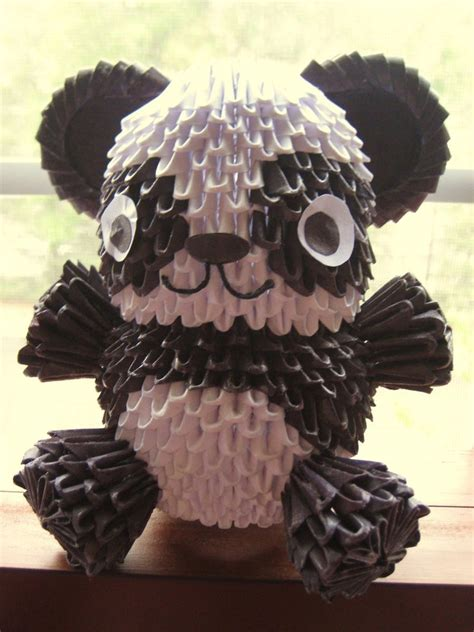 how to make 3d origami panda 3d origami panda by ydkm03 on deviantart