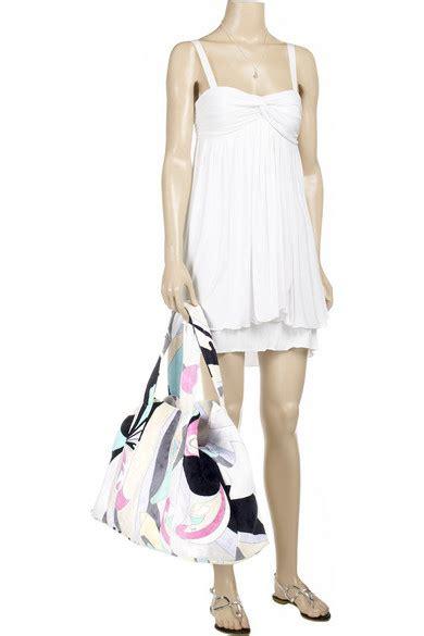 Pucci Orchidea Bag by Emilio Pucci Orchidea Large Bag Net A Porter