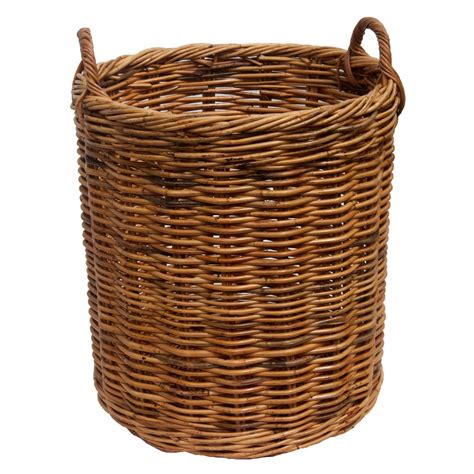 rattan baskets rattan log baskets in 2 sizes