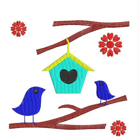 house embroidery design love bird house embroidery design embroideryshristi