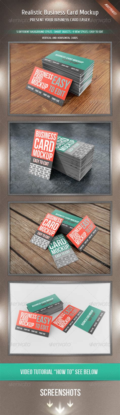 3 realistic business cards mockup templates realistic business card mockup by kotulsky graphicriver