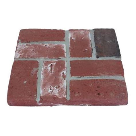 decorative stepping stones home depot 16 in brickface red used stepping stone 100046966 the