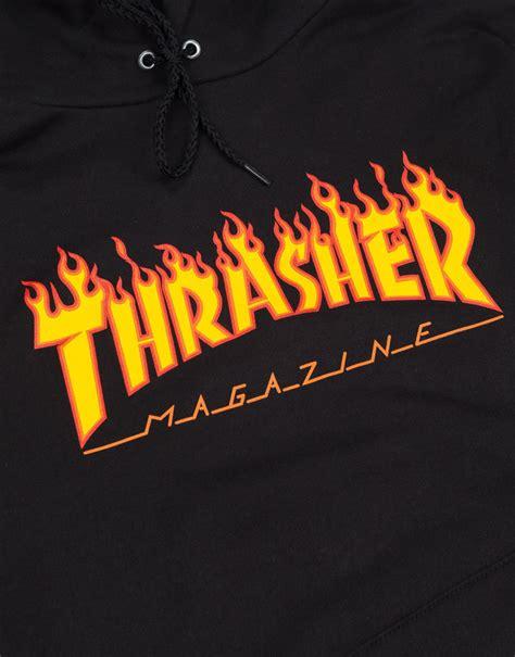 The Thrasher by Thrasher Magazine Hoodie Black Ontheblock