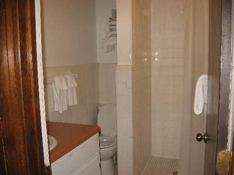 cleanest bathroom stall clean bathroom with shower stall picture of rock cabin