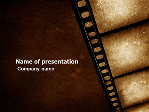 movie strip presentation template for powerpoint and