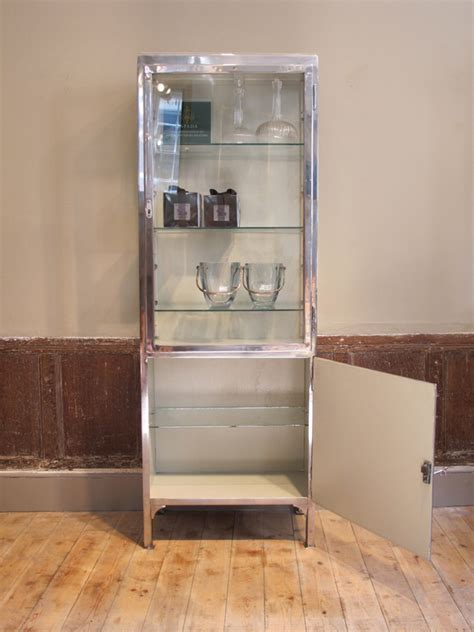 1930s Glass Display Cabinet by 1930s Polished Steel Glass Cabinet Bookcases Display