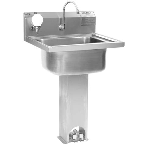 pedal sink eagle p1916 stainless steel pedestal sink with