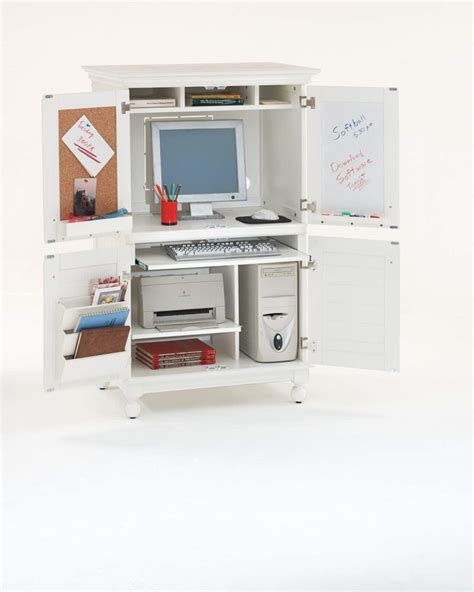 White Computer Armoire Desk by Computer Armoires Image For Corner Jewelry Armoire