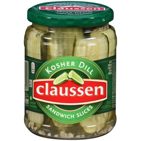 kosher pickles claussen kosher dill sandwich slices pickles 20 fl oz