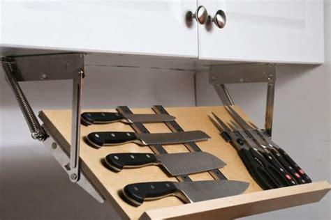 under cabinet knife storage diy amazing diy hidden storage ideas for your kitchen diy