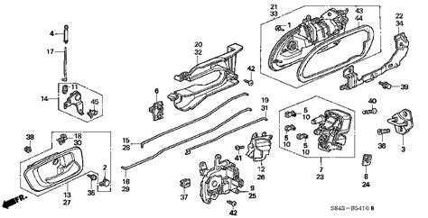 2000 Honda Accord Parts Honda Store 2000 Accord Rear Door Locks Parts