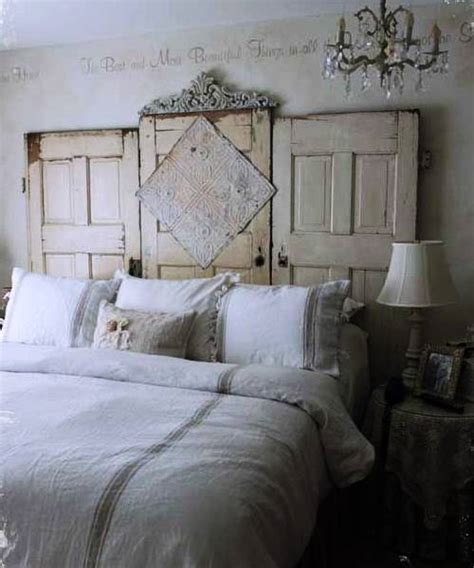 wooden door headboard ideas unique vintage furniture recycling wood doors 30 modern ideas