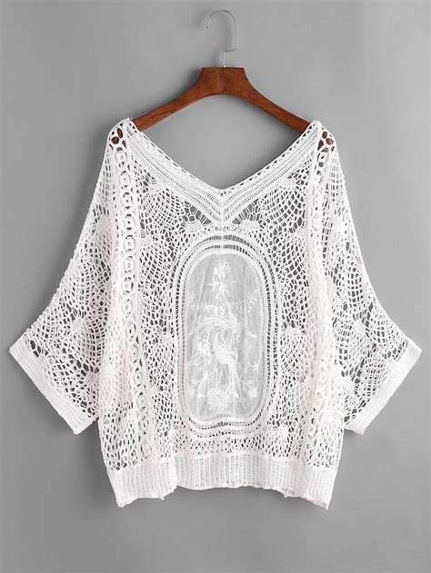 Crochet Cover Up v neckline crochet lace cover up knitting crochet