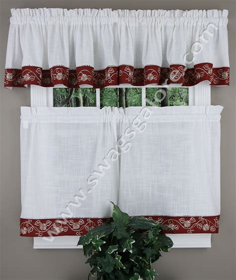 burgundy kitchen curtains oakwood curtains burgundy cafe tier curtains
