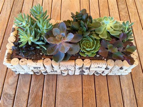 crafts cork diy cork planter boxbeckmen vineyards craft projects