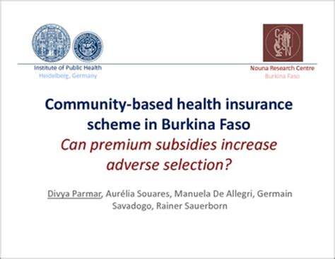 Statistical Research Paper Health Care Premiums by Community Based Health Insurance Scheme In Burkina Faso