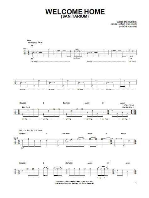 welcome home sanitarium by metallica ukulele guitar