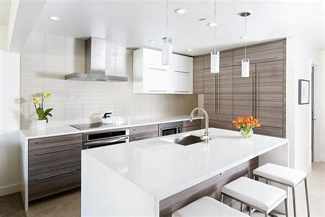 Condo Kitchen Designs For Modern Contemporary White | contemporary aspen condo gets a chic makeover