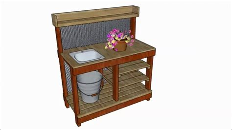 potting bench  sink plans youtube
