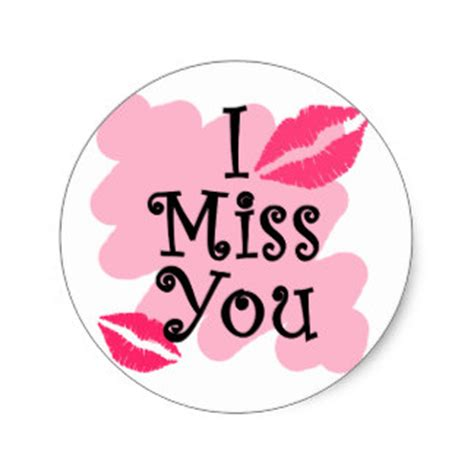 Miss You Stickers miss you craft supplies zazzle co uk