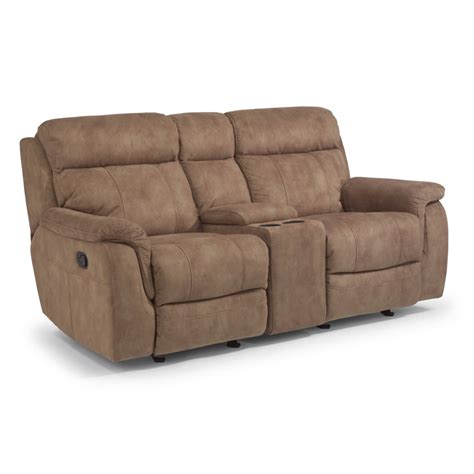 gliding loveseat flexsteel 1425 604 casino fabric gliding reclining
