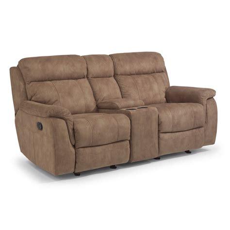 gliding recliner loveseat flexsteel 1425 604 casino fabric gliding reclining