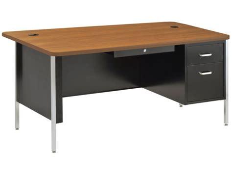 Teachers Desk by Single Pedestal Metal Teachers Desk 60 Quot X30 Quot Desks