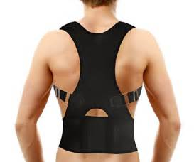 Magnetic posture support back brace relieves neck back and spine