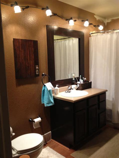 Oak Bathroom Light Fixtures Farmlandcanada Info Oak Bathroom Light Fixtures Farmlandcanada Info Java Gel Stain Oak Cabinets With A Java Trimmed Mirror Refurbished Medicine Cabinet And