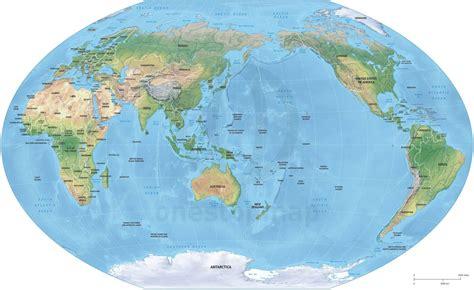australia on the map of the world vector map world relief winkel tripel asia australia one