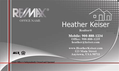 silver remax logo remax business card design 101301